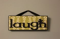 Live Laugh Love Learn Hanging Wooden by littlebluebirdcreate, $8.00