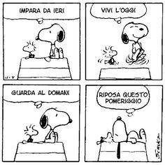 Impara da ieri, vivi l'oggi, guarda al domani, RIPOSA QUESTO POMERIGGIO _ Snoopy