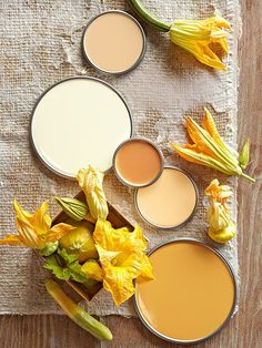 Orange can take a subtle vibe with these squash blossom-inspired hues.