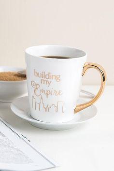 Building My Empire Gold Mug Pretty Mugs Cute Diy College Dorm