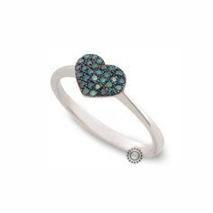Μοντέρνο δαχτυλίδι καρδιά από λευκόχρυσο Κ18 με πράσινα (πετρόλ) διαμάντια   Δαχτυλίδια με ορυκτές πέτρες ΤΣΑΛΔΑΡΗΣ στο Χαλάνδρι #καρδιά #διαμάντια #δαχτυλίδι #rings