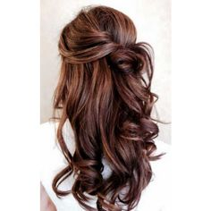 Hair Highlights For Dark Brown Hairstyles 2015 ❤ liked on Polyvore featuring beauty products, haircare, hair styling tools and hair