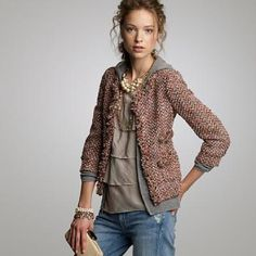 tweed and layers
