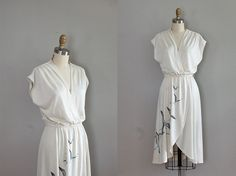 vintage 1970s Seagulls in Flight dress