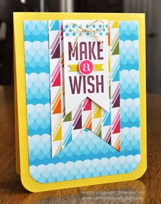 Stampin Up; Birthday Card; Perfect Pennants; Card Creations by Beth