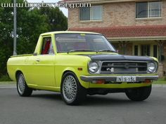 Datsun 1200 Buick, Old Cars, Cars And Motorcycles, Nissan, Chevy, Toyota, Junk Yard, Trucks, Muscle
