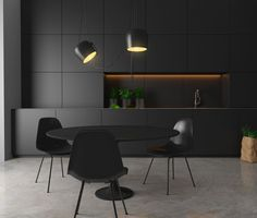 Black kitchen, black styling and of course a black Flos Aim! All black everything!