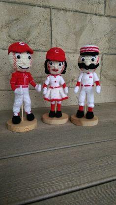 Cincinnati Reds Mascots crochet dolls ... Mr Red Rosie Red Mr Redlegs