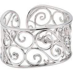 Sterling Silver 1/2 CT TW Diamond Cuff Bracelet Jewelry Adviser Cuff Bracelets. $1178.30. Save 60%!