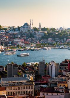 The Gelata Tower overlooks the Golden Horn and provides an excellent view of the Fatih Mosque. The Fatih Mosque is an Ottoman imperial mosque located in the Fatih district of Istanbul, Turkey. It is one of the largest examples of Turkish-Islamic architecture in Istanbul and represented an important stage in the development of classic Turkish architecture.