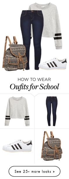 """simple school"" by tabby125 on Polyvore featuring Dorothy Perkins and adidas"
