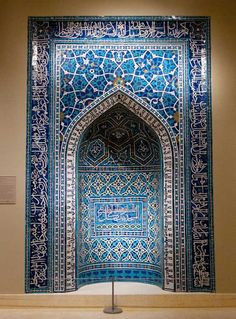 14th century Iranian mihrab (photo by Ruth Fremson). Can't wait to see the new Islamic wing at the Metropolitan Museum.