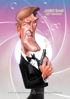 Roger Moore's James Bond by Anthony Geoffroy (France)