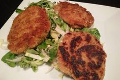 Croquettes de thon - Mes Recettes au Cooking Chef Salmon Burgers, Chicken, Meat, Ethnic Recipes, Food, Table, Gourmet, All Recipes, Cooking
