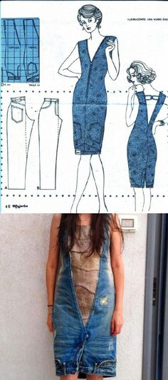 You are going to love this upside down jeans dress and it's a super easy DIY. Be sure to check out the denim apron and the denim skirt upcycle too.