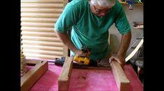 MARCENARIA - Banquinho de madeira demolição peroba rosa