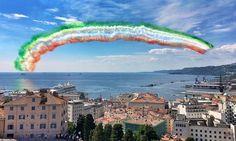 Un arcobaleno tricolore su Trieste