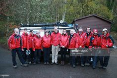 Prince William, Duke of Cambridge and Catherine, Duchess of Cambridge meet mountain rescue personnel as they visit the Towers Residential Outdoor Education Centre on November 20, 2015 in Capel Curig, United Kingdom. The Towers is an outdoor education centre run by Wolverhampton Council providing adventure activities for children.  (Photo by Chris Jackson-WPA Pool/Getty Images)