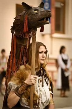 Dacian woman warrior carrying our ancient symbol,the wolf