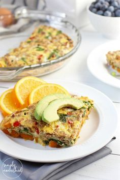 Sweet Potato Turkey Sausage Egg Bake |30-minute meal idea | This Sweet Potato Turkey Sausage Egg Bake combines a blend of ingredients creating a perfect sweet and savory dish. A freezer-friendly recipe | Paleo | Whole 30 | Gluten-free| Dairy-free | http://simplynourishedrecipes.com/sweet-potato-turkey-sausage-egg-bake/