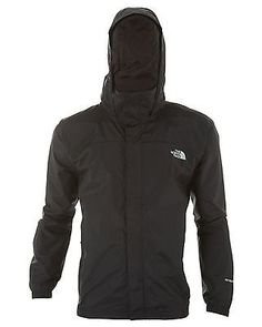 North Face Resolve Jacket Mens AR9T-JK3 Tnf Black Waterproof Outdoor Size 2XL