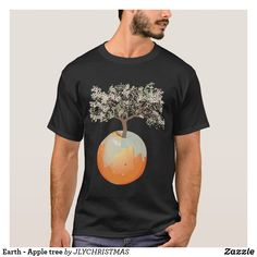 Shop Earth - Apple tree T-Shirt created by JLYCHRISTMAS. Growing Tree, Apple Tree, Mens Tops, T Shirt, Shopping, Clothes, Earth, Design, Fashion