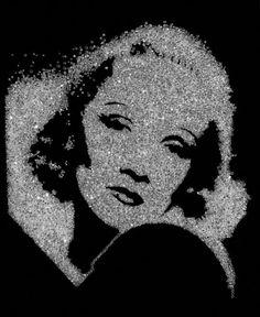 Vik Muniz, Marlène Dietrich (Diamond Divas), 2004 © Vik Muniz - Courtesy galerie Xippas