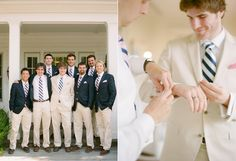 love the groomsmen/groom suits - so refreshing to see not-gray in this era of gray suits at weddings