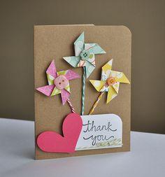 Pinwheel thank you card