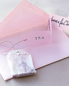 Tea Shower Invitations