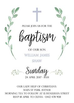 Baptism Invitation For Boys, Christening Invitations Boy, Invitation Wording, First Communion Invitations, Baby Boy Baptism, Baptism Party, Safari Invitations, Shower Invitations, Baby Dedication