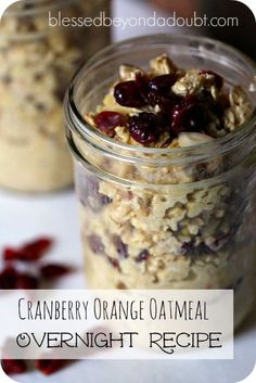 This recipe for overnight oatmeal is the best. It's so easy and healthy. It's my new favorite breakfast.