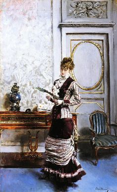 Giovanni Boldini - A Lady Admiring a Fan