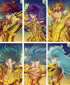 Caballeros de Oro: Libra, Escorpio, Sagitario, Capricornio, Acuario y Pisis Miniatur Motor, Big Heroes, Manga Anime, Anime Art, D Mark, Hobgoblin, Animation, Anime Kawaii, Anime Comics