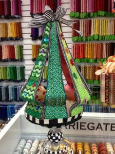Atl Nimble Needle - Tree, Finishing and Stitch Guide by Barbara Elmore, Stitched by Stacy  Gorgeous, Different