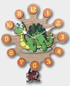 Reloj de pared con pendulo Dino por regaliagifts en Etsy