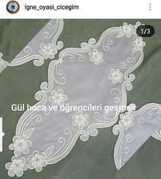 Şiş dantel White Embroidery, Embroidery Stitches, Embroidery Designs, Maquillaje Halloween, Painted Clothes, Bargello, Diy Crafts Videos, Angel, Lace