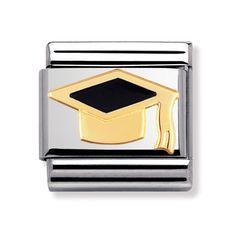 Shop Gold Graduation Hat - Classic Nomination Charm 60001124 from Something Elegant.