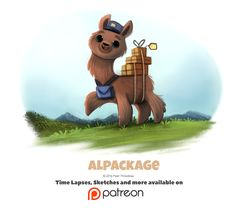 Day 1399. Alpackage, Piper Thibodeau on ArtStation at https://www.artstation.com/artwork/bmy1a