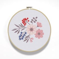 Cross Stitch Pattern Bouquet PDF Instant Download by NTstudio
