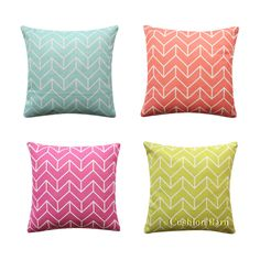 Geometric Herringbone Cushion Cover Turquoise Aqua Pink BOHO Pillow Cover Boho Pillows, Throw Pillows, Geometric Cushions, Aqua, Turquoise, Herringbone, Pillow Covers, Bed, Pink