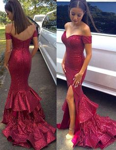 Off the Shoulder Sexy Mermaid Prom Dresses,Long Evening Dresses,Prom Dresses,Fishtail dress