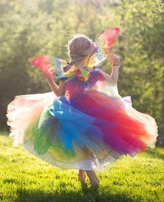 Rainbow Fairy Tutu Dress par EllaDynae sur Etsy