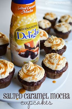 Pin it. Cupcakes. Everyone loves them, right? Add some salted caramel and chocolate to the mix and you really can't go wrong. Thanks to International Delight Salted Caramel Mocha creamer I was able to whip up a quick batch of cupcakes - with lots of...
