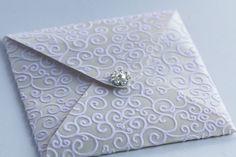 Venus Ivory Flock Handmade Wedding Invitation £3.50