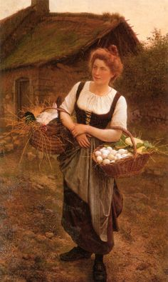 John White Alexander (1856-1915)  La fille de ferme !