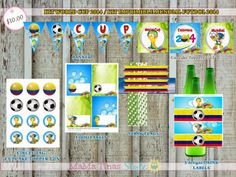 Etiquetas Mundial Brasil 2014. World Cup 2014. Printable KIT Brasil 2014. Soccer