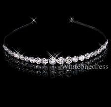 Beautiful Rhinestone Crossed Design Bridal Tiaras Wedding Accessory Headbands