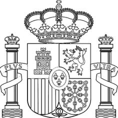 El Escudo de España para colorear