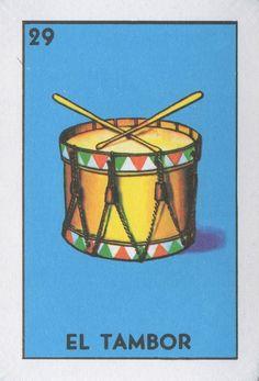 El Tambor (The Drum) | Lone Quixote | #loteria #MexicanBingo #art #bingo